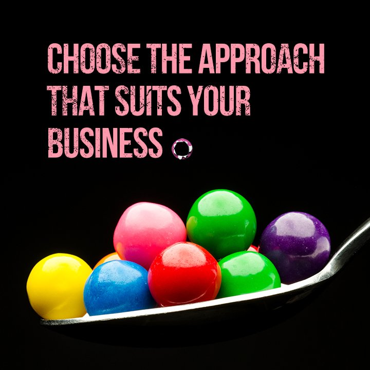 Choose the approach that suits your business